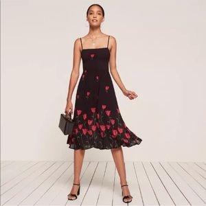 Reformation Holland dress, size 6, tulip print.